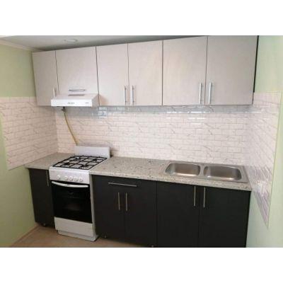 черно-белая кухня - стена Главная на заказ по индивидуальному дизайну доступная цена, современная мебель, в кредит, трансфер,...