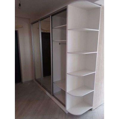 Большой шкаф с зеркалами - белый Главная на заказ по индивидуальному дизайну доступная цена, современная мебель, в кредит, тр...
