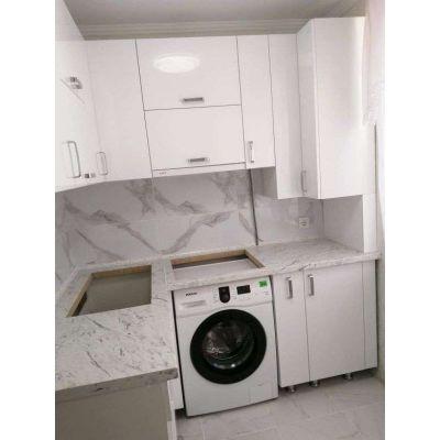 маленькая белая кухня - встроенная стиральная машина Главная на заказ по индивидуальному дизайну доступная цена, современная ...