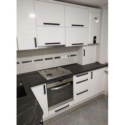 белый кухонный круглый угол Главная на заказ по индивидуальному дизайну доступная цена, современная мебель, в кредит, трансфе...