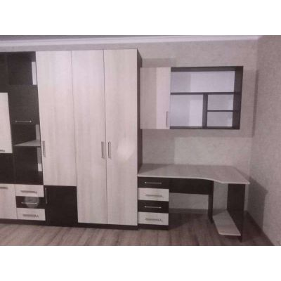 мебель для гостиной на заказ шкафы + компьютерное пространство Главная на заказ по индивидуальному дизайну доступная цена, со...
