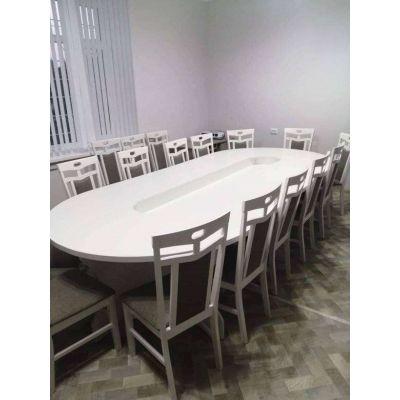 стол с большими круглыми стульями Главная на заказ по индивидуальному дизайну доступная цена, современная мебель, в кредит, т...