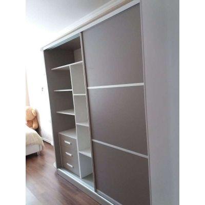 серый шкаф Главная на заказ по индивидуальному дизайну доступная цена, современная мебель, в кредит, трансфер, в рассрочку