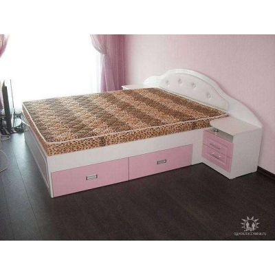 розовая кровать на заказ Главная на заказ по индивидуальному дизайну доступная цена, современная мебель, в кредит, трансфер, ...