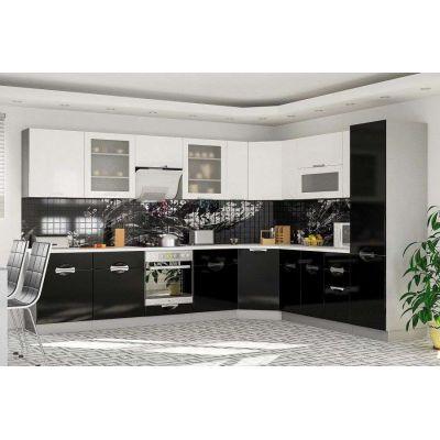 Bucătărie Carmen (alb/negru) Acasa la comanda design individual pret accesibil, livrare , credit , transfer, mobila moderna