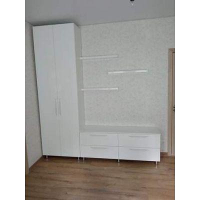 белый шкаф-подставка Главная на заказ по индивидуальному дизайну доступная цена, современная мебель, в кредит, трансфер, в ра...